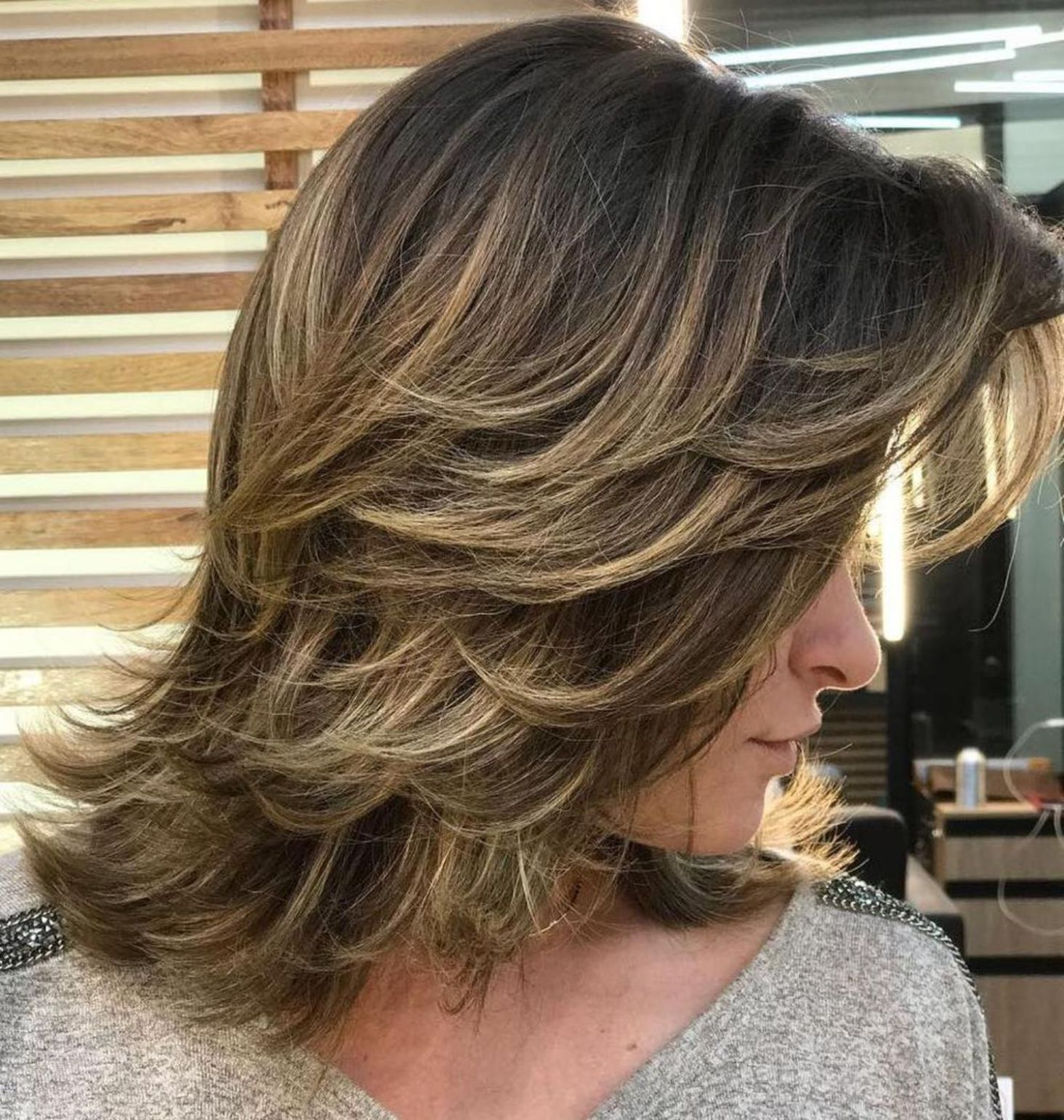 sensational medium length haircuts for thick hair in hair