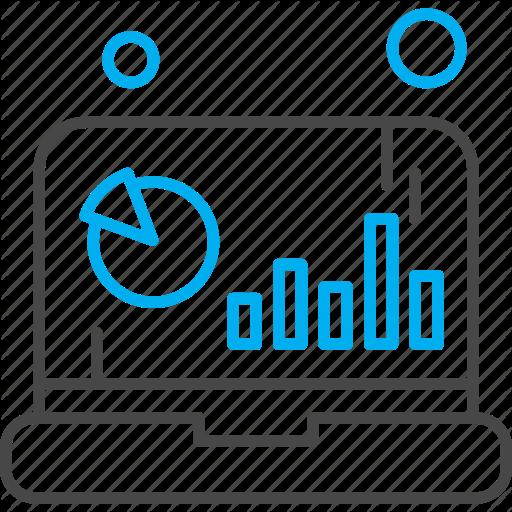 Analytics Chart Laptop Statistics Icon Download On Iconfinder Icon Chart Summer Icon