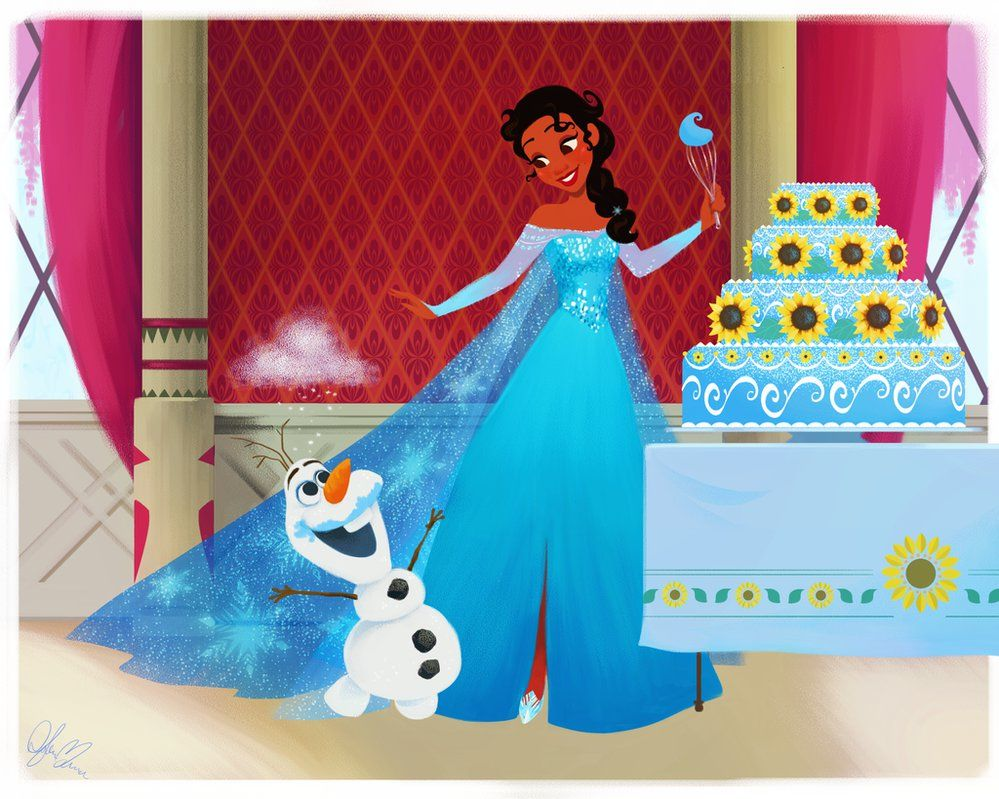 Tiana in Elsa's World by DylanBonner