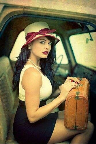 Another image of her getting ready for a road trip to France.