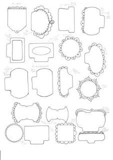 Doodle tabs & tags template: Template & Printable Patterns