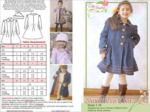 Sweet Pea Coat Ellie Inspired by EllieInspiredClothes on Etsy