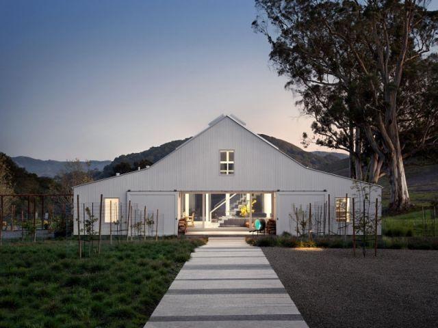 Un vieux ranch américain transformé en maison écologique Architecture