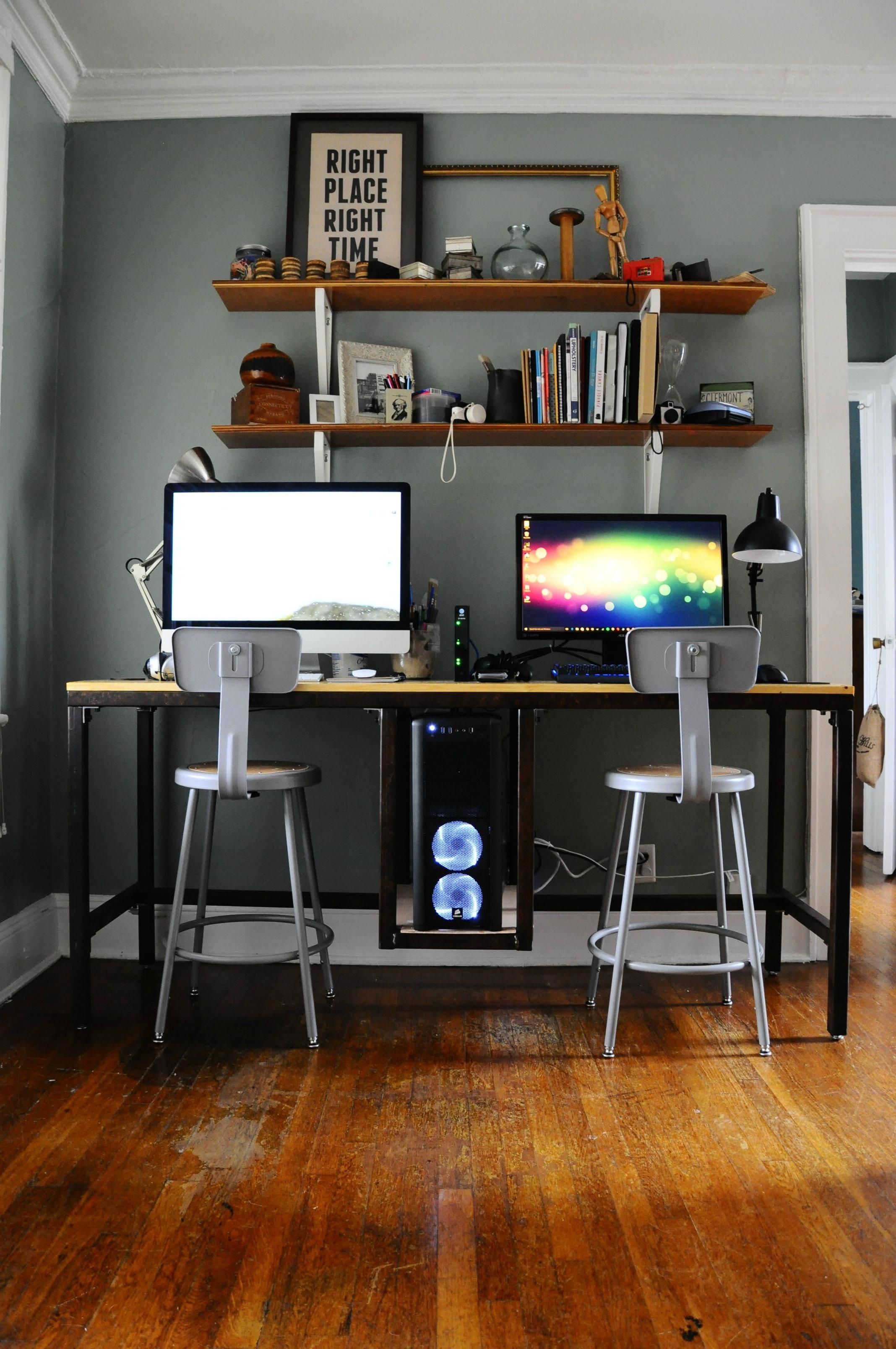 His and Her Custom Desk Battlestation