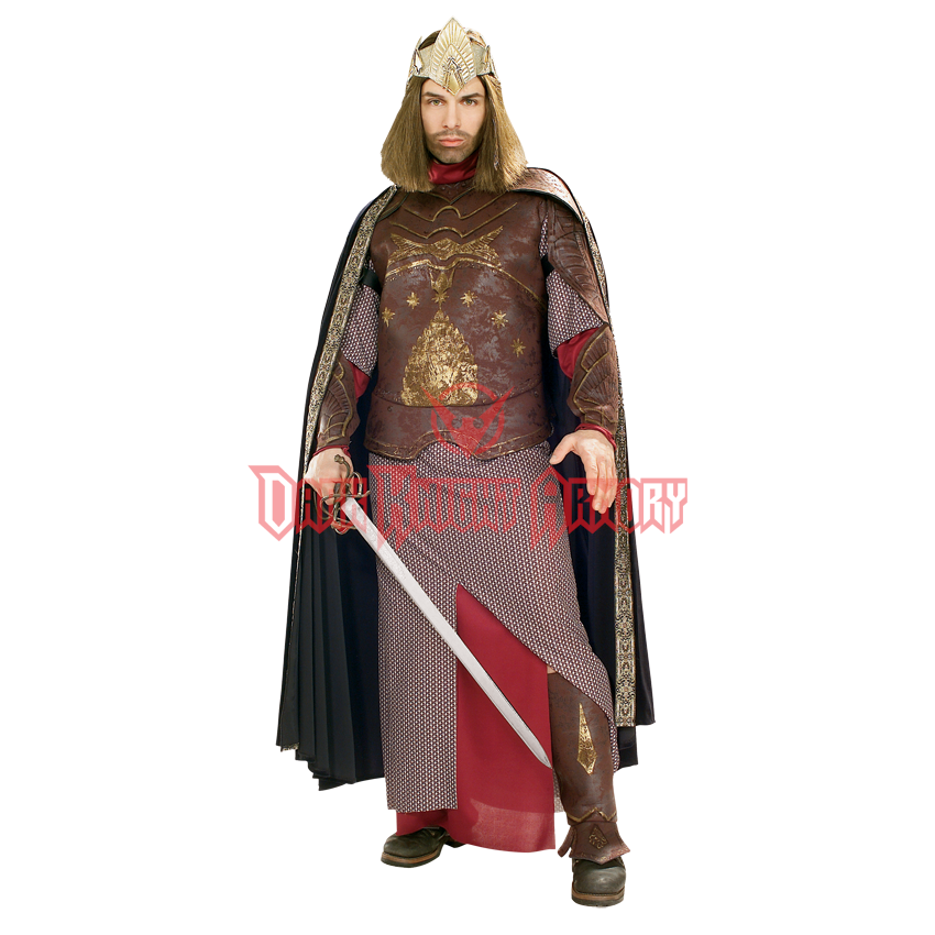 Lord of the Rings Hobbit Dwarf King Aragorn Elessar Cosplay Costume Outfit Suit