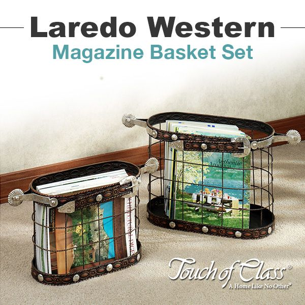 Laredo Western Magazine Basket Set
