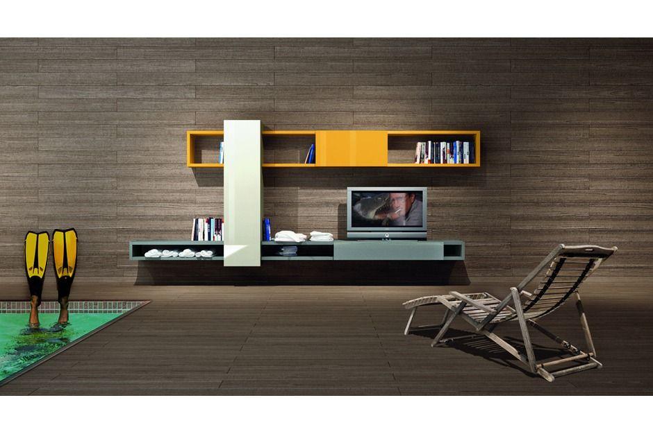 Composition Lago Linea N 326 Lago Fabriquant Italien De Mobilier Design Modulable Mobilier Design Meuble Tv Design Meuble Tv