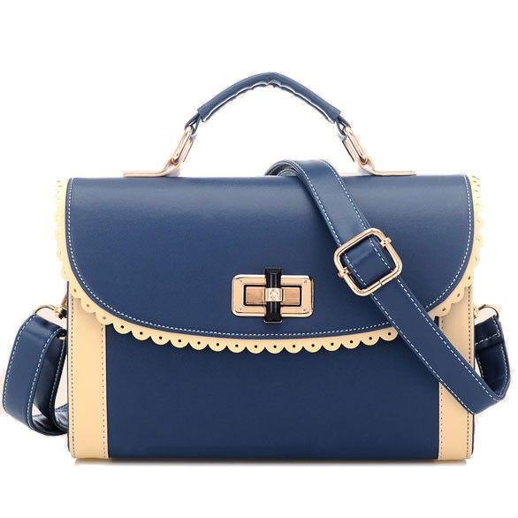 Sweet Rotation Lock Lace Handbag & Shoulder Bag|Fashion Handbags - Fashion Bags|ByGoods.com