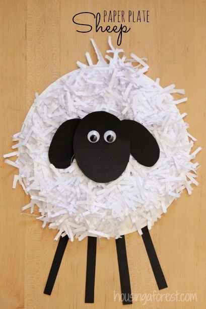 Make a Paper Plate Sheep | 25 Paper Plate Crafts Kids Can Make