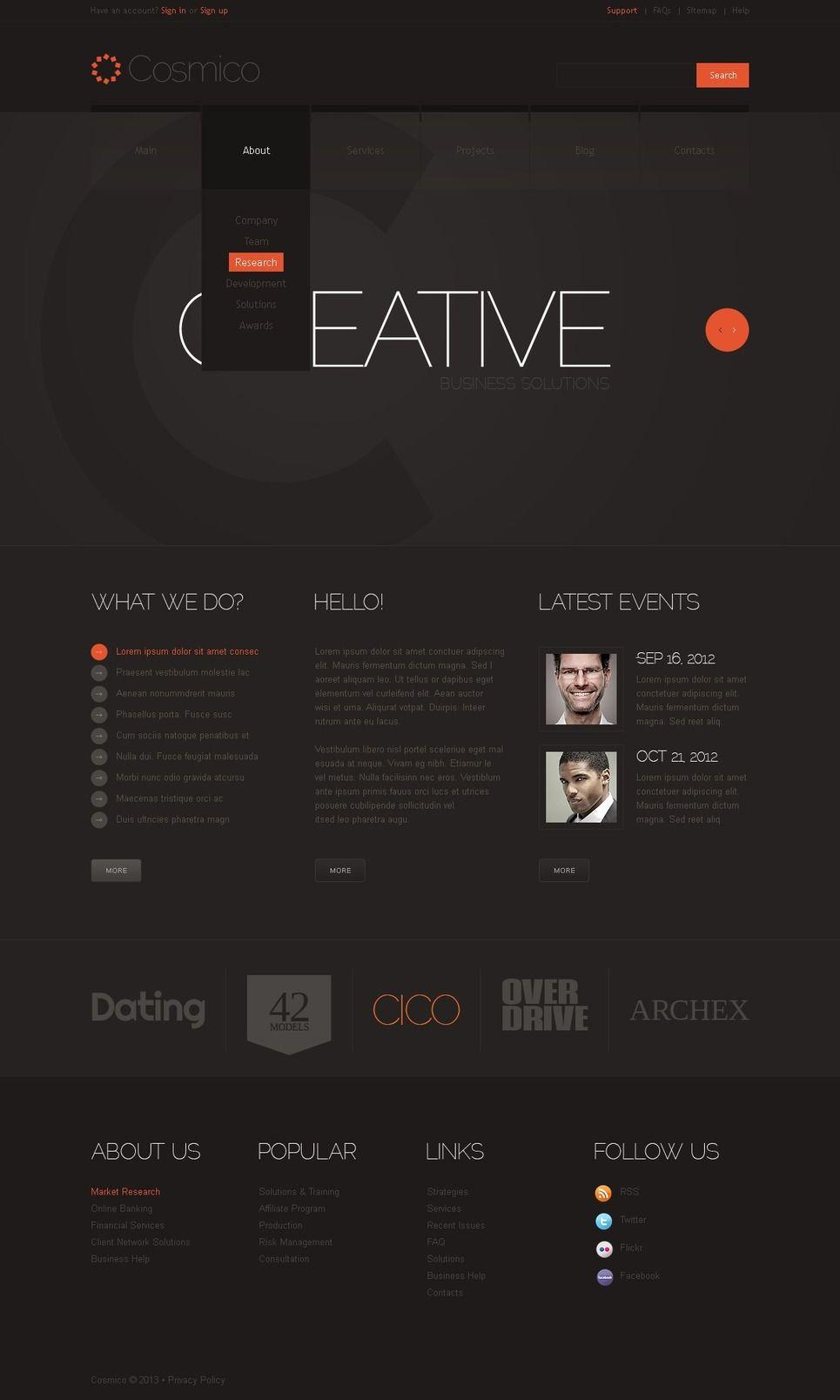 Marketing Agency Website Template Agency Marketing Template Marketing Agency Website Modern Website Design Web Layout Design