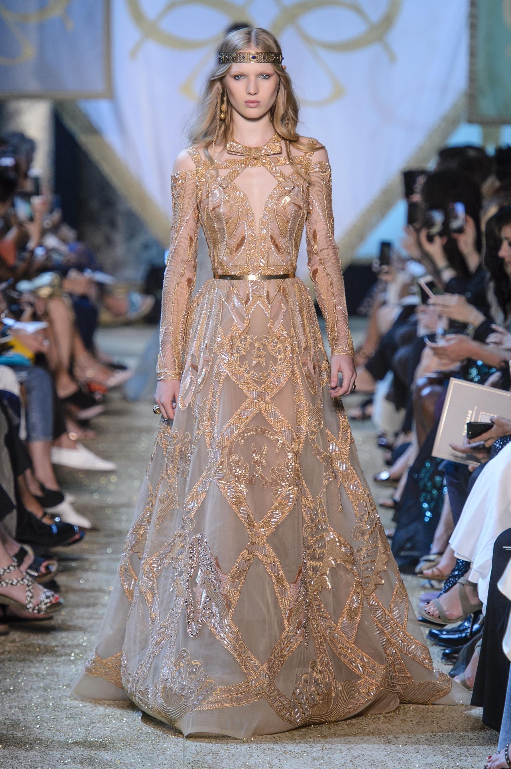 Défilé Elie Saab Automne-hiver 2017-2018 Couture | Gowns, Haute ...