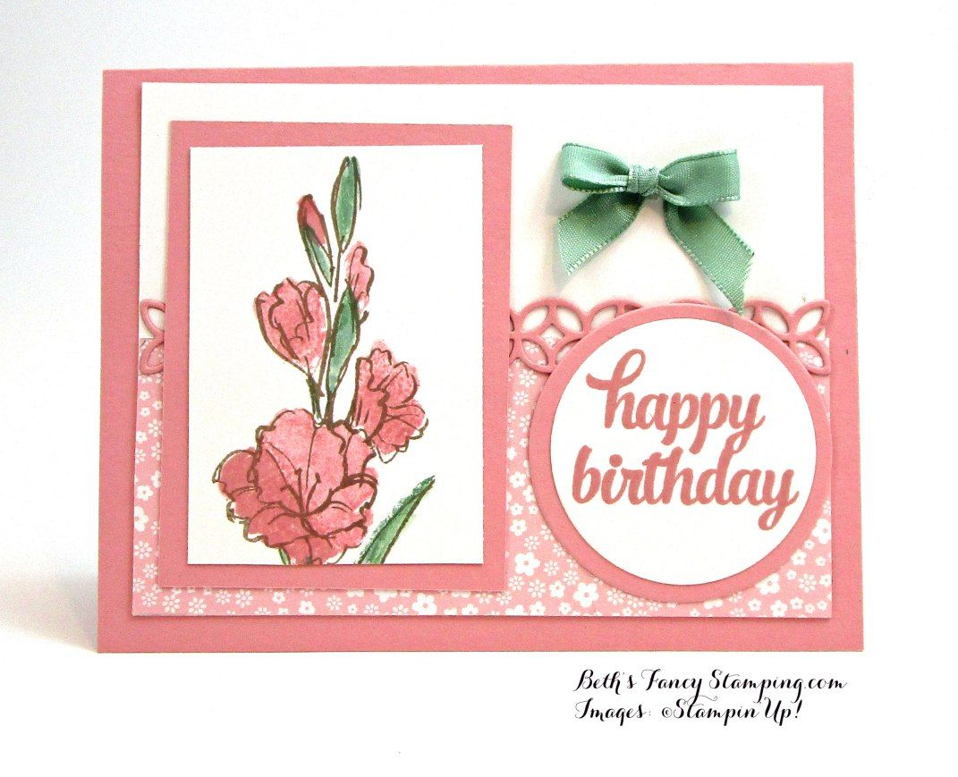 Birthday Card In Blushing Bride Accented By Mint Macaroon 2016