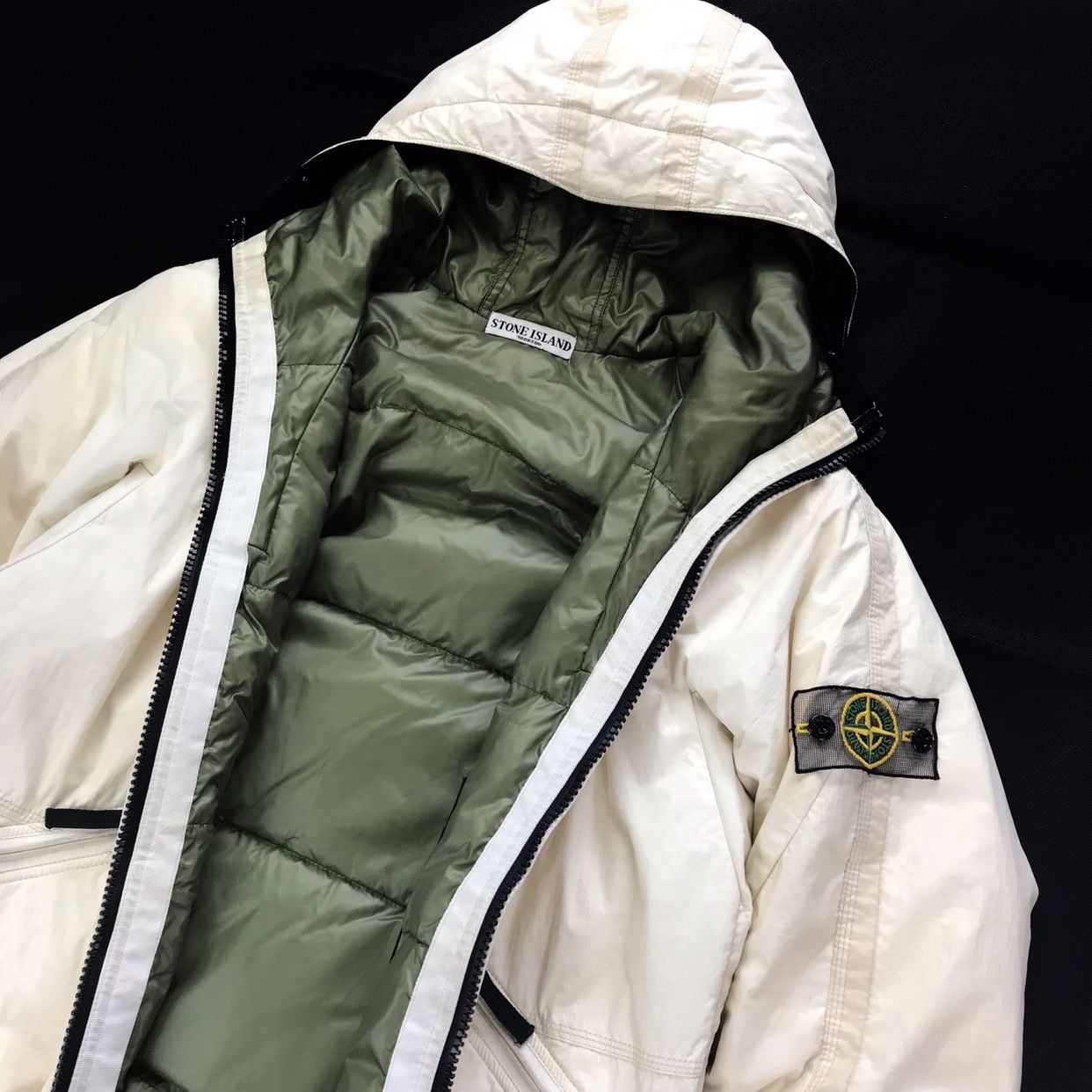 Authentic Stone Island A W 2009 Mesh Badge Puffer Depop Stone Island Authentic Stone Puffer [ 1242 x 1242 Pixel ]