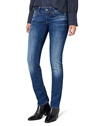5a5e94a957 G-STAR RAW Midge Saddle Jeans Femme Bleu (Medium Aged 71) W29/L30 ...