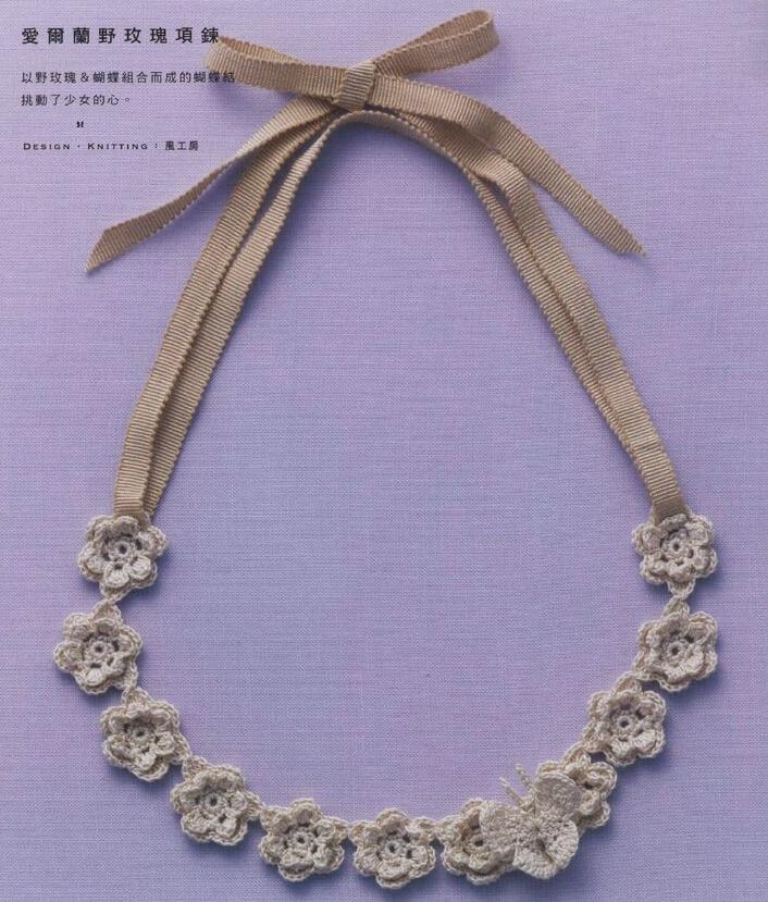 3 collares de crochet con encanto - Patrones Crochet | Crochet ...