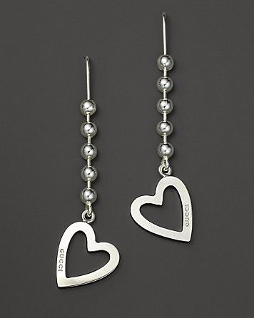 a0b7fe653 Gucci Sterling Silver Toggle Heart Earrings | Bloomingdale's ...