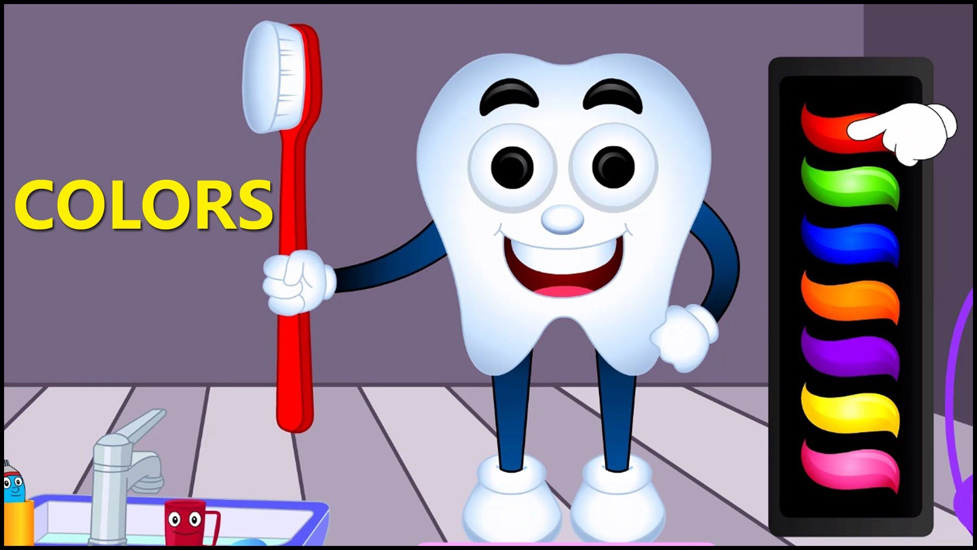 Learn Colors with Teeth Brush, Teach Colours, Baby Children Kids ...