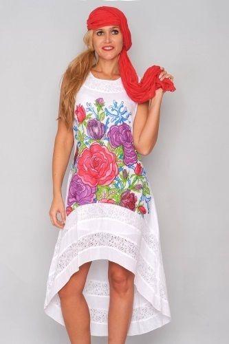 separationsskor beställa online många stilar Klänning Wild Flowers - Underbar klänning i vitt med somrig tryck ...