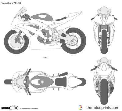 Yamaha Yzf R6 Race Auto Design Skizze Autos Skizzen
