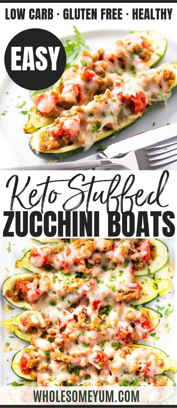 Photo of Keto Italian Sausage Stuffed Zucchini Boats Recipe | Wholesome Yum