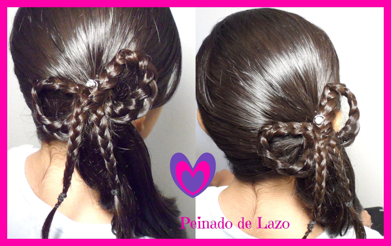 Peinado Coleta Con Trenza De Lazo/Moño