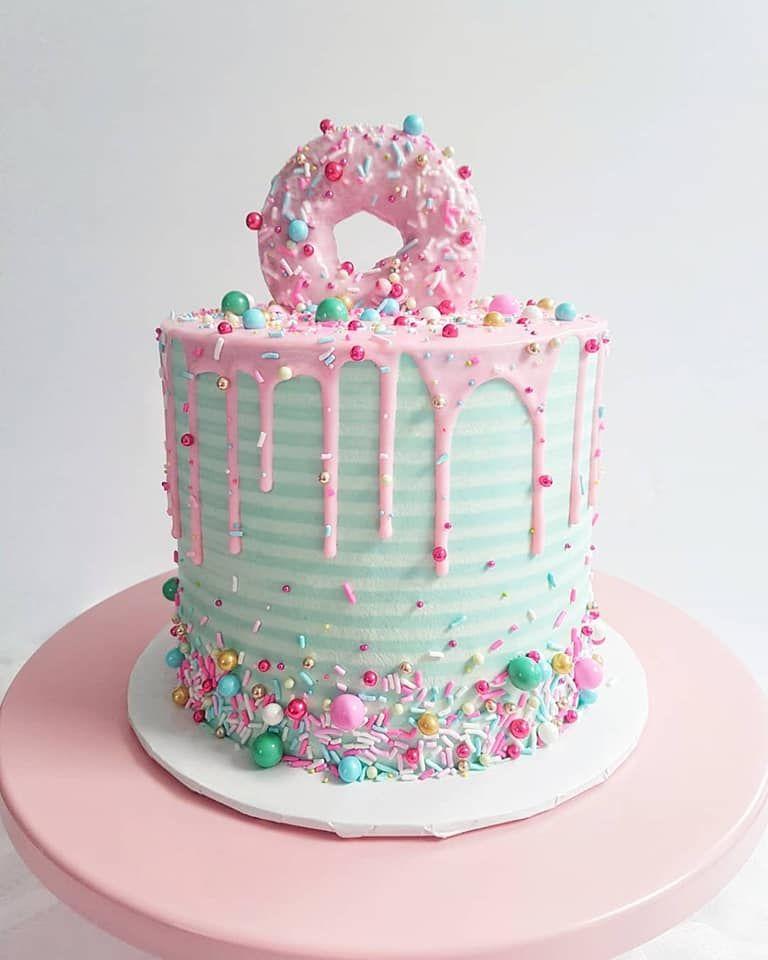 Donut Donuts Cake Cakes Layercake Dripcake Sprinkles Retro