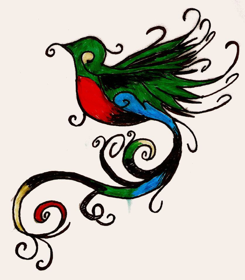 Family Tattoo Ideas Buscar Con Google: Dibujos Del Ave El Quetzal - Buscar Con Google