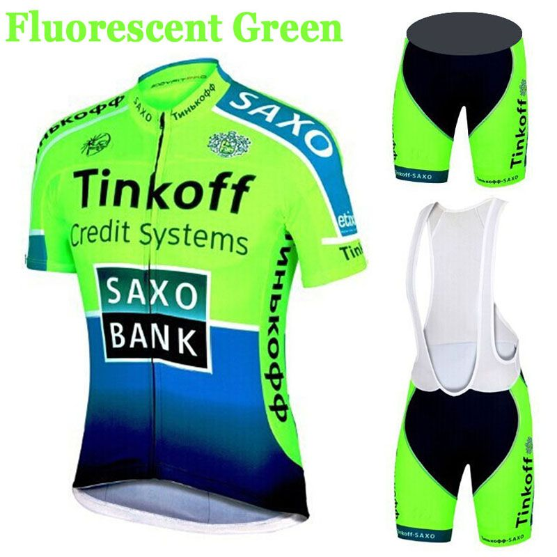 Visit to Buy  cycling wear Mens Maillot SaxoBank Tinkoff Cycling Jerseys  Quick-Dry Ropa MTB Ciclismo Cycling Clothing Breathable sports wear 0295a8617