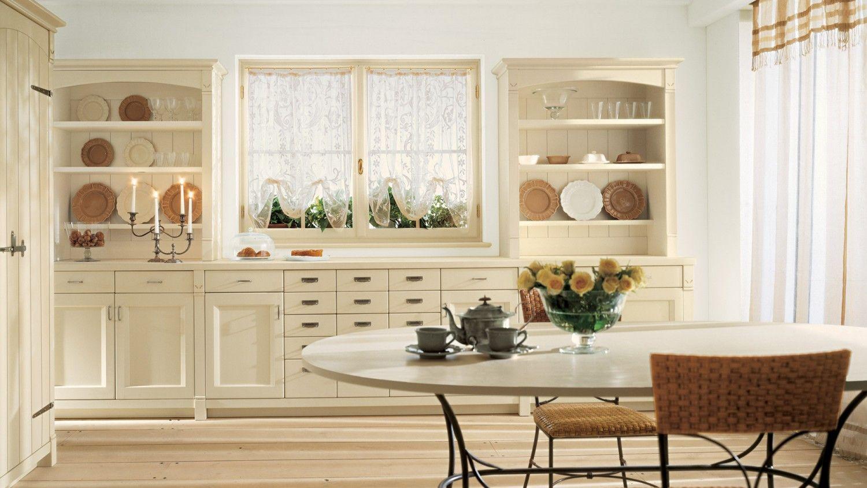Pareti In Legno Shabby : Cucina in legno collezione english mood finitura bianco burro