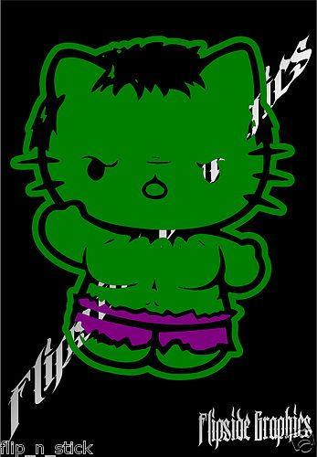 Clip art · funny hello kitty hulk decal