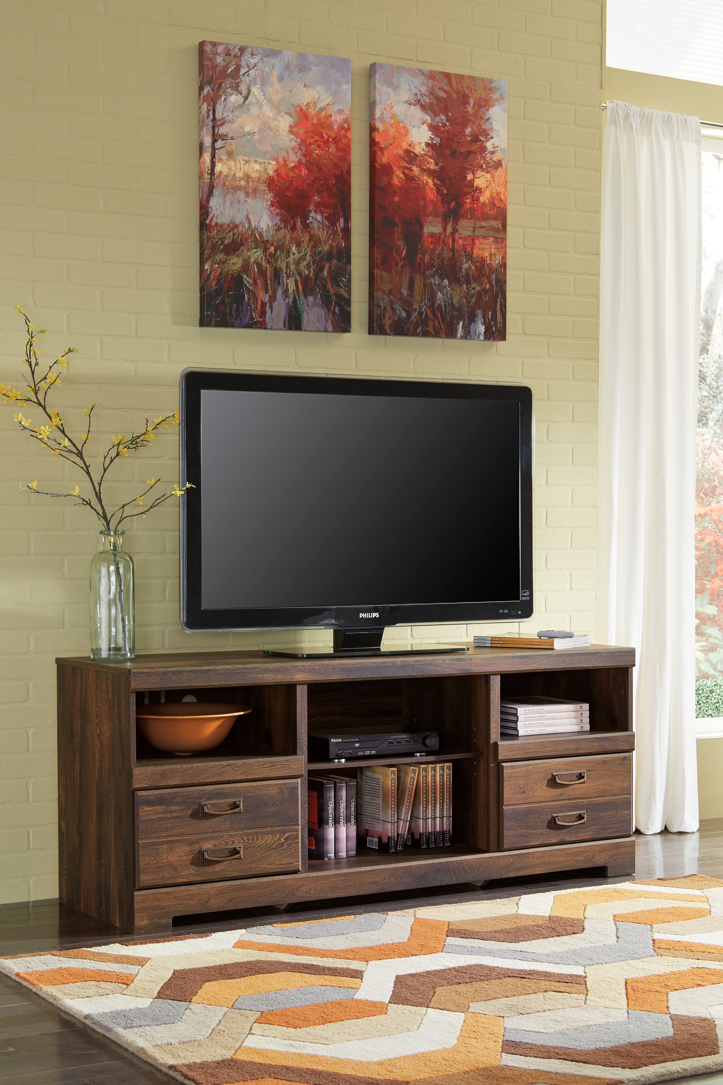 Shop For Signature Design By Ashley LG TV Stand W/Fireplace Option, And  Other Accessories Entertainment Centers At Garnand Fine Furniture In Garden  City, ...