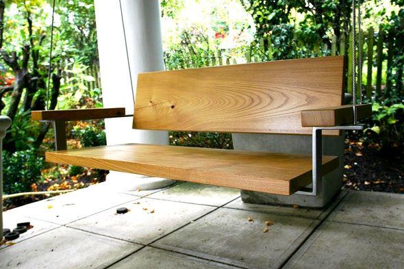 Pin By Natalie Bayne On Remodel Modern Porch Swings Porch Swing Modern Porch