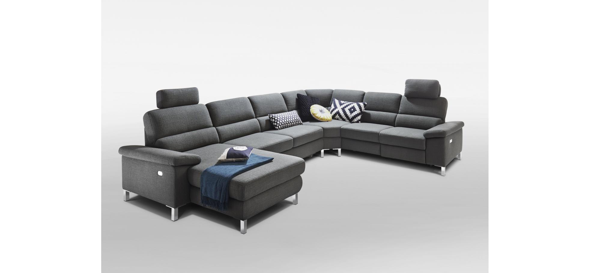 Wohnlandschadft In Grauem Stoff Berkemeier Home Company Möbelstück Schöne Zuhause Gemütlich