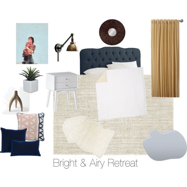 """Bright & Airy Retreat"" by katebogdan on Polyvore"