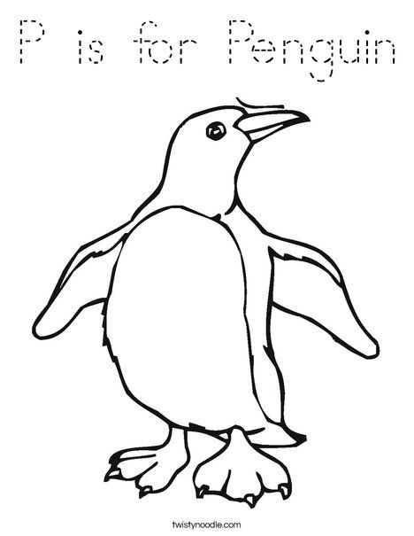 Penguin Flapping Flippers Coloring Page Penguin Coloring
