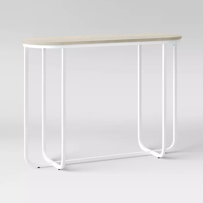 Tiverton Pill Console Table White Project 62 Target Metal Console Table Console Table Table