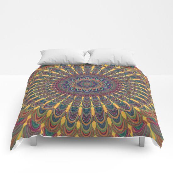 SOLD: Bohemian oval mandala Comforters