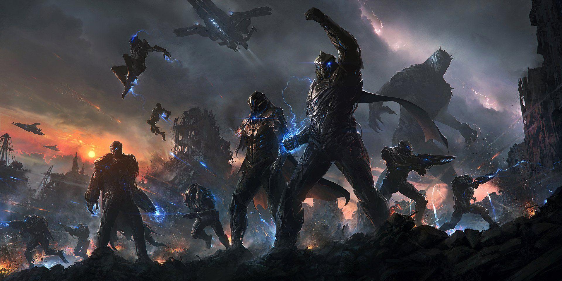 Sci Fi War Sci Fi Battle Soldier Wallpaper Concept Art World