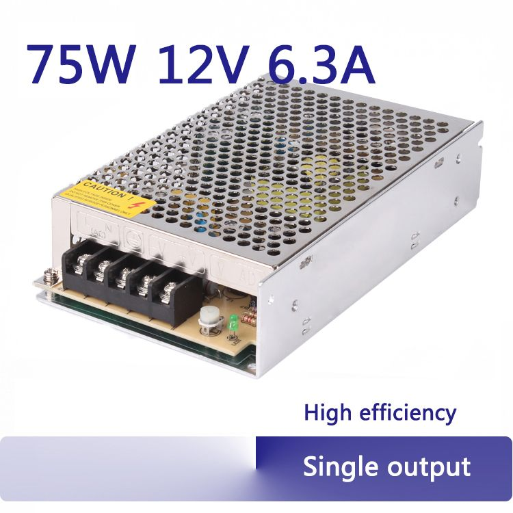 12v 75w switching power supply 12v 6 3a regulated linear psu