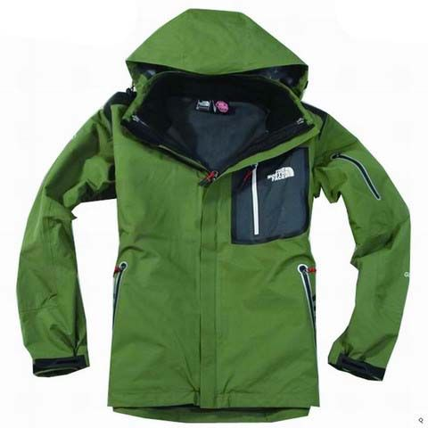 The north face men's green jacket
