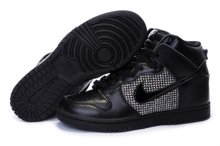 sale retailer c55c7 d9a9f Nike Dunk High Womens Schwarz Grau Black