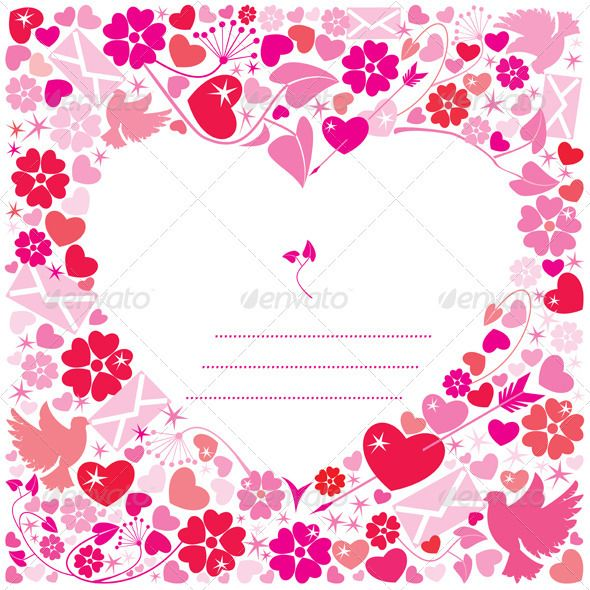 Day Postcard White Background Heart – Valentines Day Post Card
