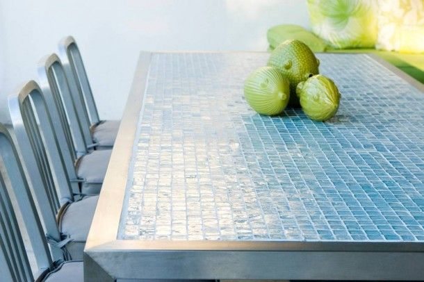 Glass Tile Kitchen Countertop