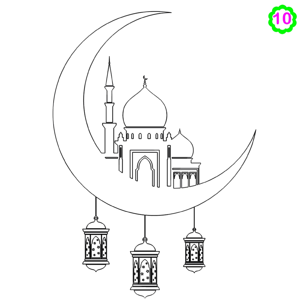 Free colouring activities #colouring #mosque #muslimkids #drawing #Islamicactivities