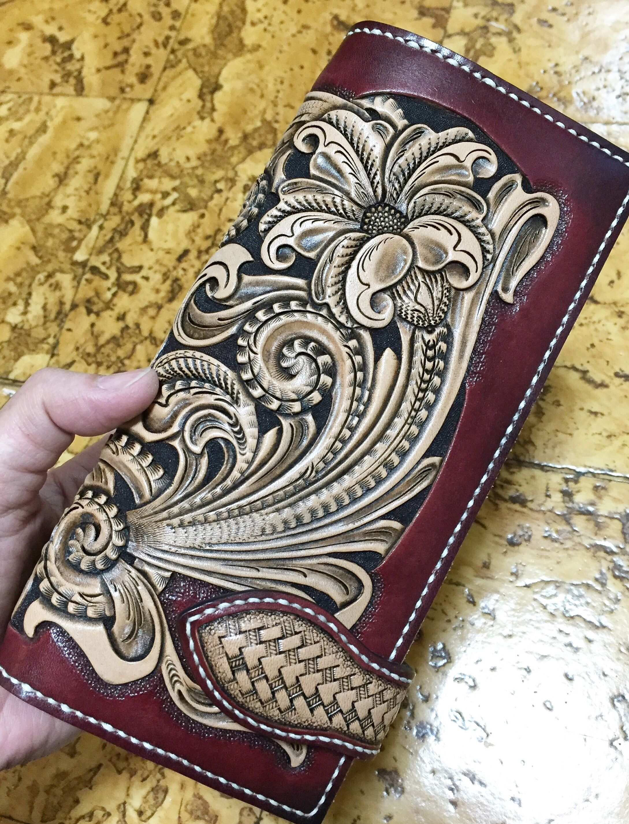 Top Notch Billfold #4001-00 Floral Tooling Pattern By Tandy Leather