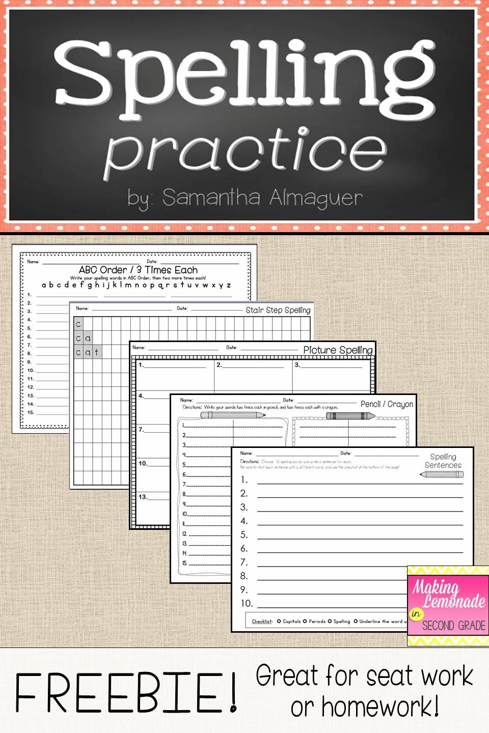 worksheet Spelling Word Practice Worksheets these pages are a simple solution to making easy useful worksheets for spelling homework or