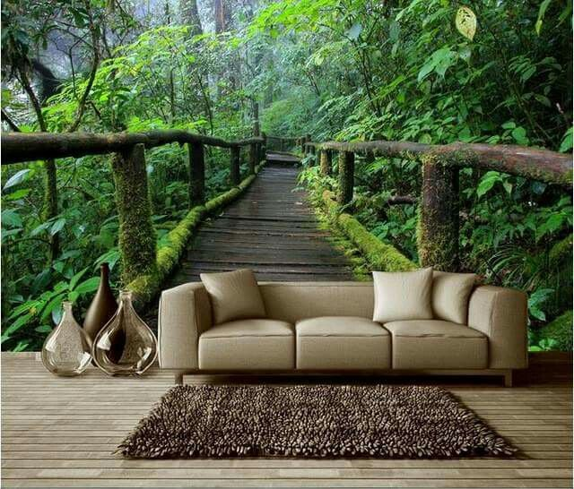 Pin By M M L On 3d Wallpapers Jungle Wall Mural Mural Wallpaper Wall Wallpaper