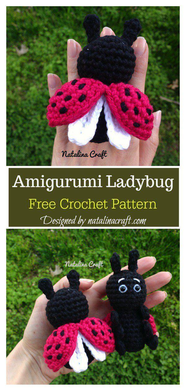 Patrón de ganchillo con llavero de mariquita Amigurumi gratis