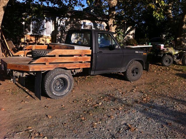 Flatbed Wooden Truck Bedding Truck Flatbeds Trucks