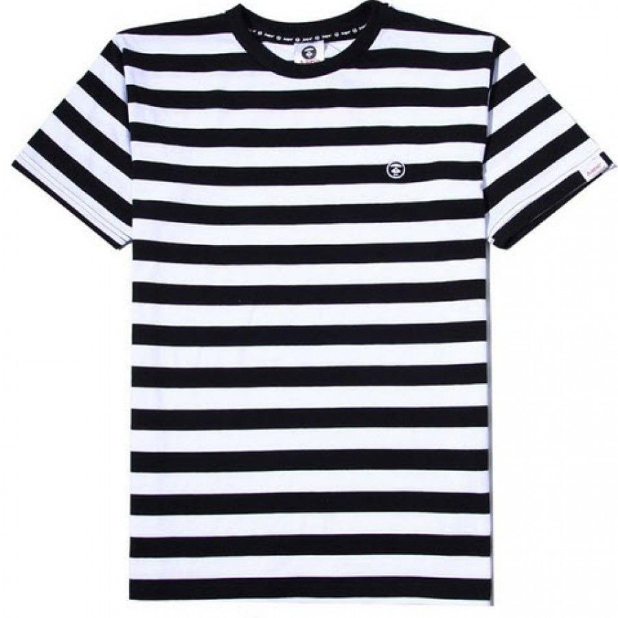 Black t shirt with white stripes - Stripes Never Loses Style A Bathing Ape Stripe Pocket T Shirt Http Streetwearbathingblack Whitestripespocketst Shirts